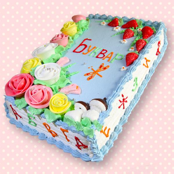 замовити дитячий торт буквар