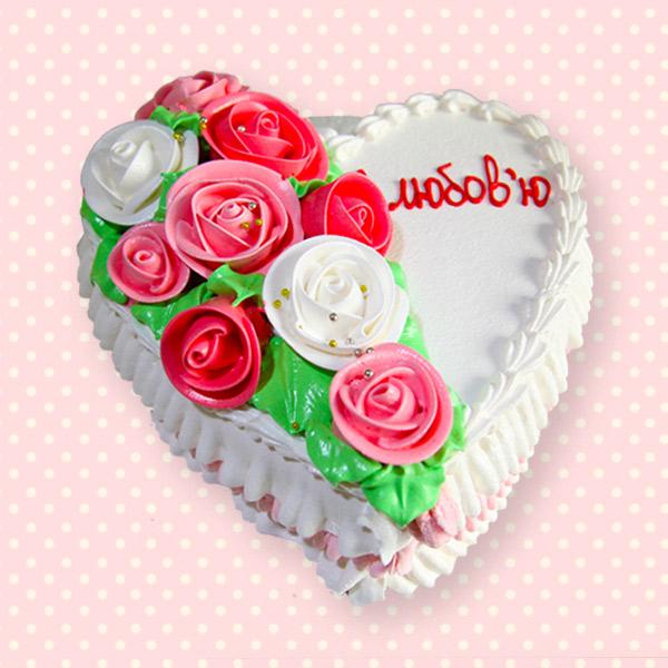 замовити торт для закоханих