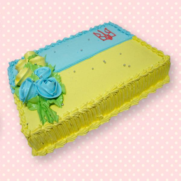 """Торт на замовлення """"Прапор України"""""""