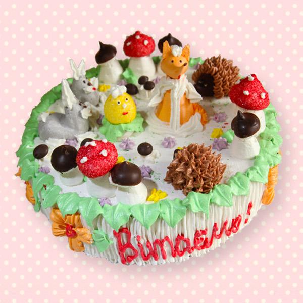 дитячий торт звірята на замовлення