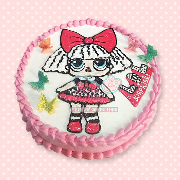 замовити торт з лялькою лол