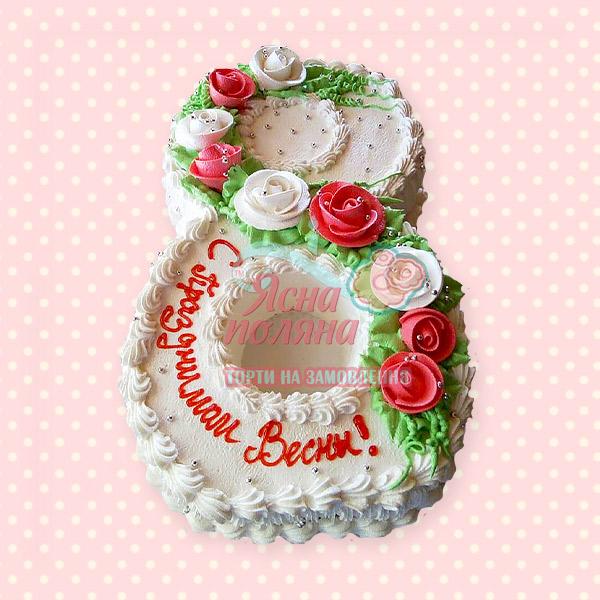 Торт на восьме березня житомир